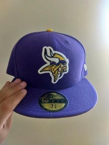 Boné New Era Original Minnesota Vikings Roxo