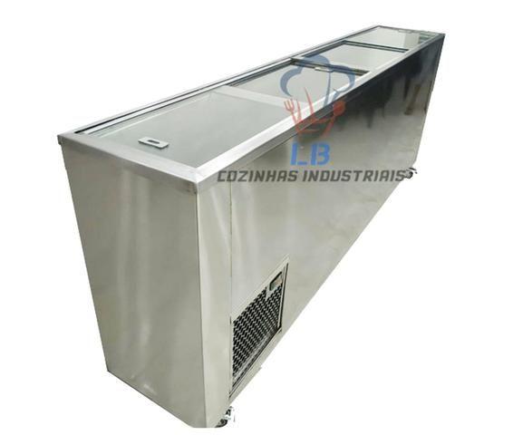 Freezer aço inox personalizado