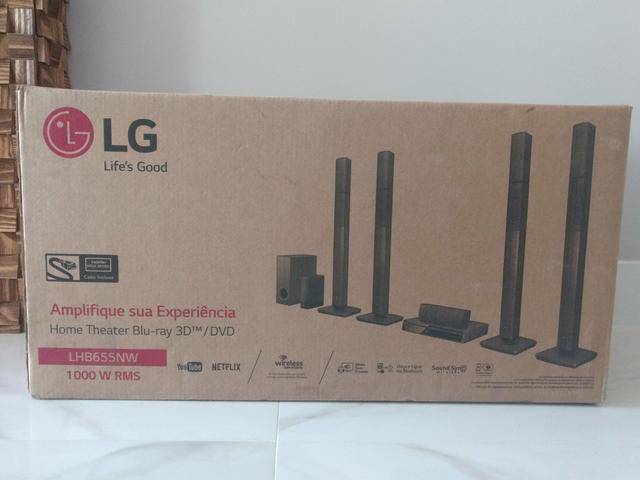Home Theater LG Wireless LHB655NW Blue-Ray 3D com DVD -5.1 Canais 1000W RMS