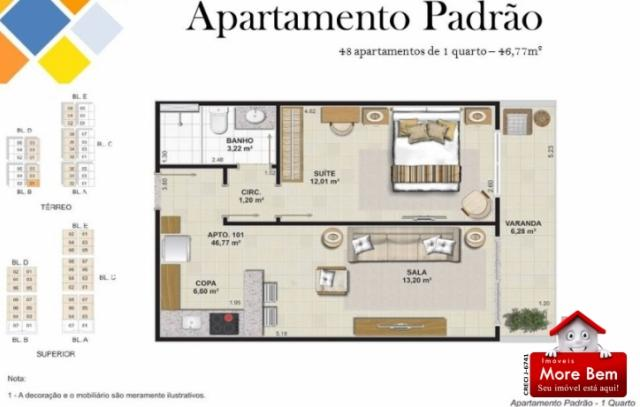 Apartamento 1 Suíte - Portinho - Cabo Frio/RJ Lançamento!!!! - Foto 3