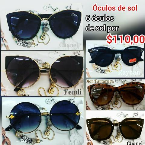 ae24e770f Óculos de sol Atacado 6 peças - Bijouterias, relógios e acessórios ...