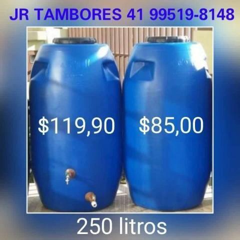Tambor Cisterna 250 Litros Completa Com Torneira e Registro VAP - (Reservatório/Bombona/Ba - Foto 2