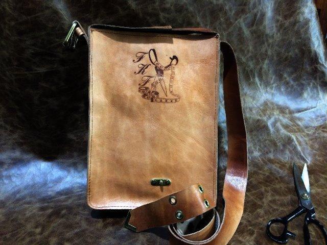 Bolsa em couro legítimo , tipo velho oest - Foto 5