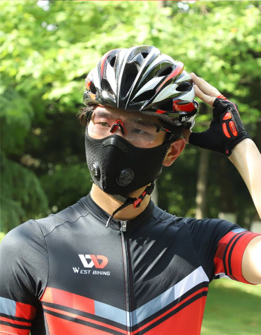 Mascara anti poluição virus com válvula ciclismo bike bicicleta caminhada corrida esportes - Foto 3