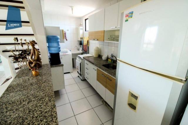 Apartamento Duplex com 5 dormitórios para alugar, 130 m² por R$ 4.500,00/mês - Mucuripe -  - Foto 15