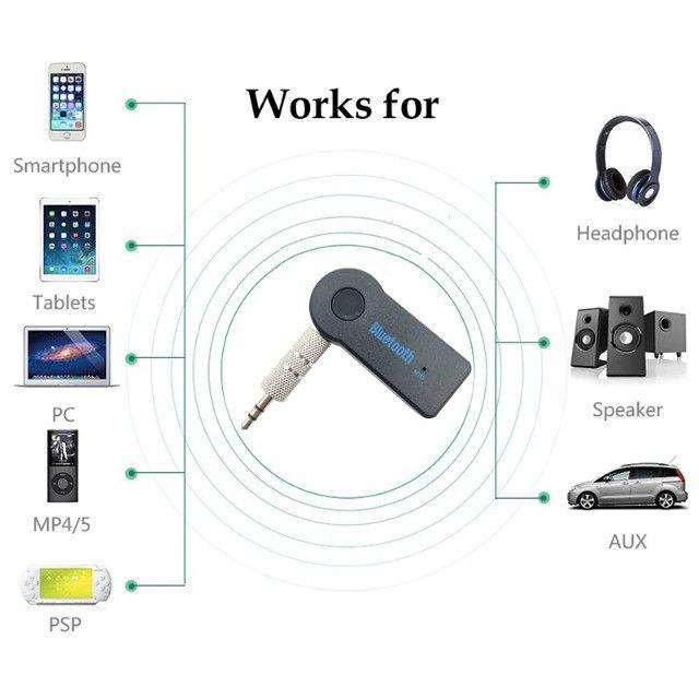 Adaptador Bluetooth para Som Automotivo Receptor Buetooth para Som Antigo - Foto 3