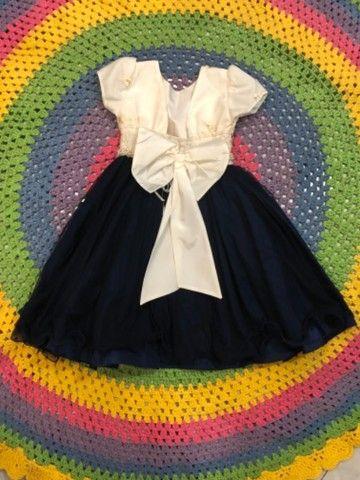 Vestido de festa infantil azul royal - Foto 3