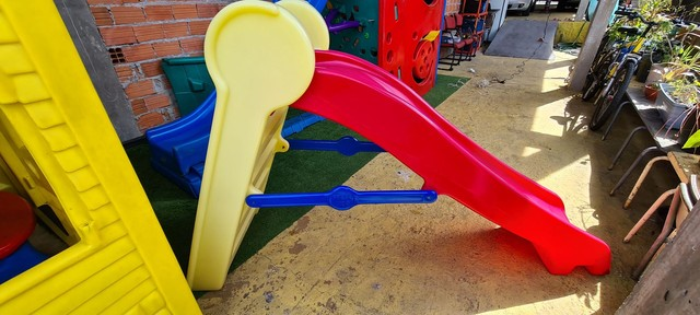 Escorregador Playground Freso Kids Casinha Brinquedo Usados - Foto 3
