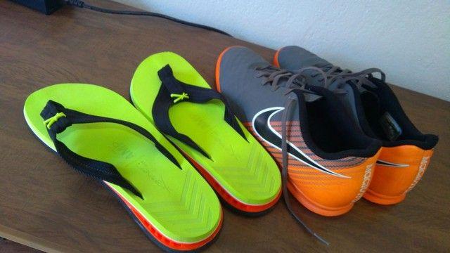 Chuteira Nike futsal magistaX e chinelo Kenner NK5 AMP masculino - Foto 2
