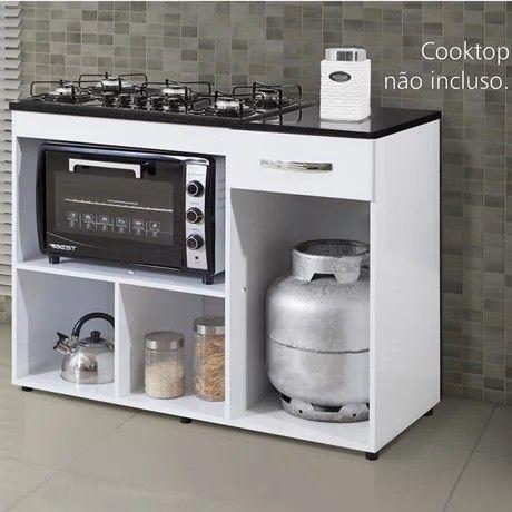 Balcão para cooktop de 5 bocas Violeta | NOVO - Foto 3