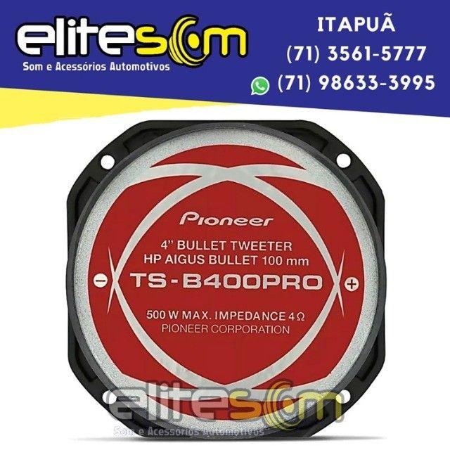 Super Tweeter Pioneer Ts-b400pro 200WRms 4 Ohms instalado na Elite Som - Foto 4