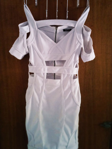 Vende-se vestido branco usado uma única vez - Foto 3