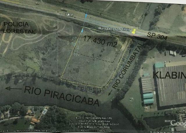 Terreno 17.430 m2 + 13,878 m2 de app - 160 m de frente pra Rodovia
