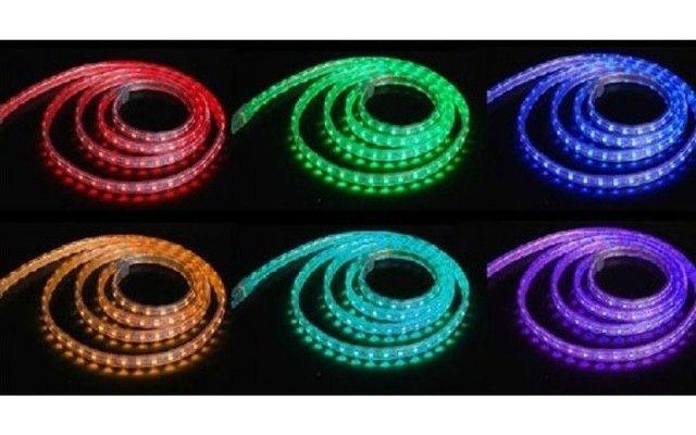Fita Led Rgb Decoração Neon 5 Metros Multicolorida - Foto 4
