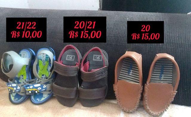 Lote sapatos masculinos infantil - Foto 2