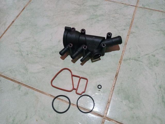 Carcaça da válvula termostática Fiesta Ford Ka EcoSport motor Rocam  valor r$ 100