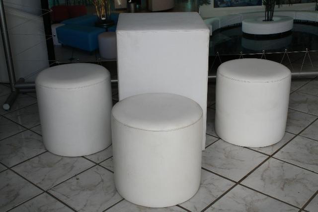 Pufe redondo individual 0,45 diametro usado - Foto 3