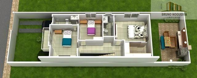 casa duplex em rua privativa no eusebio proxima ao centro - Foto 12