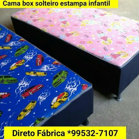 Cama box solteiro (Estampa infatil e adulto)Frete grátis Zap 99532-7107