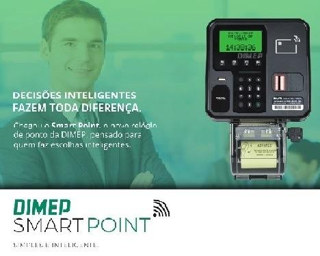 Relógio Ponto Dimep Smart Point - Leitor Biométrico e Wi-Fi - Até 100 Funcionários