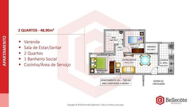 Bellecôte Residence, apartamento com entrada facilitada ao lado do mix mateus maiobão - Foto 12