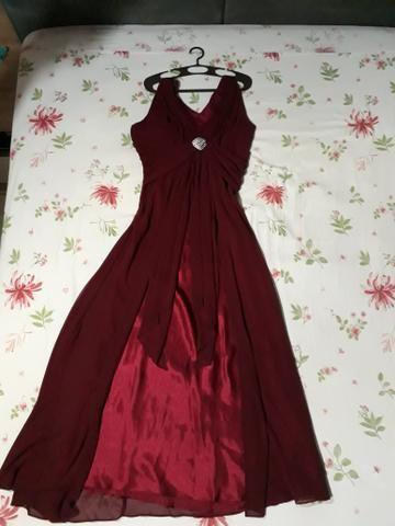 Vendo vestido de festa longo (usado 1 vez) $200,00