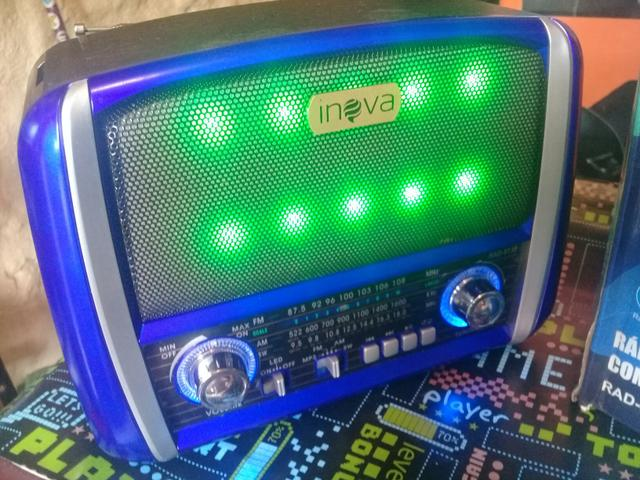 Radio inova am fm leitor pen drive e cartao - Foto 3