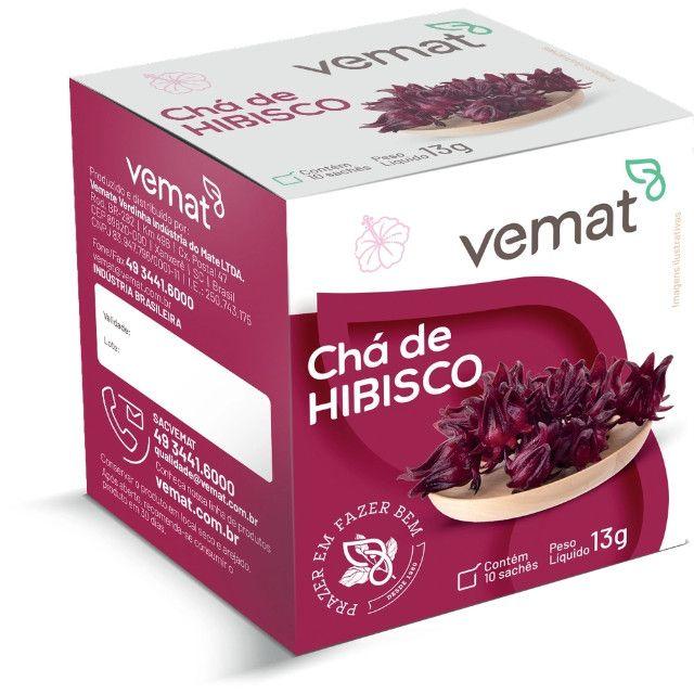 Chá Hibisco Vemat - (caixa C/ 10 Un. C/ 10 Sachês) - Foto 2