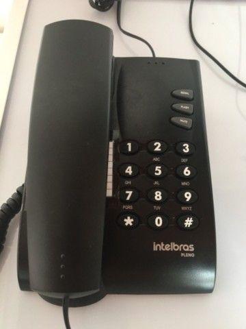 Telefone fixo Intelbras Pleno preto - Foto 2
