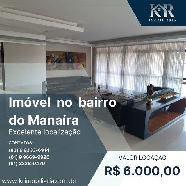 Apartamento com 4 dormitórios para alugar, 290 m² por R$ 6.000,00/mês - Manaíra - João Pes