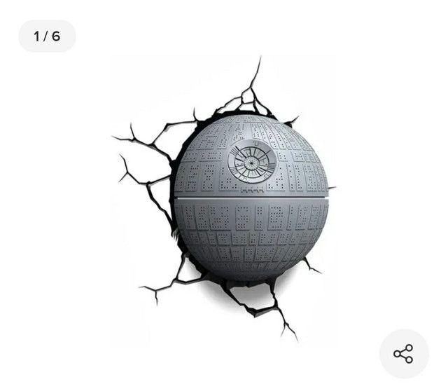 Luminária Star Wars Estrela da morte
