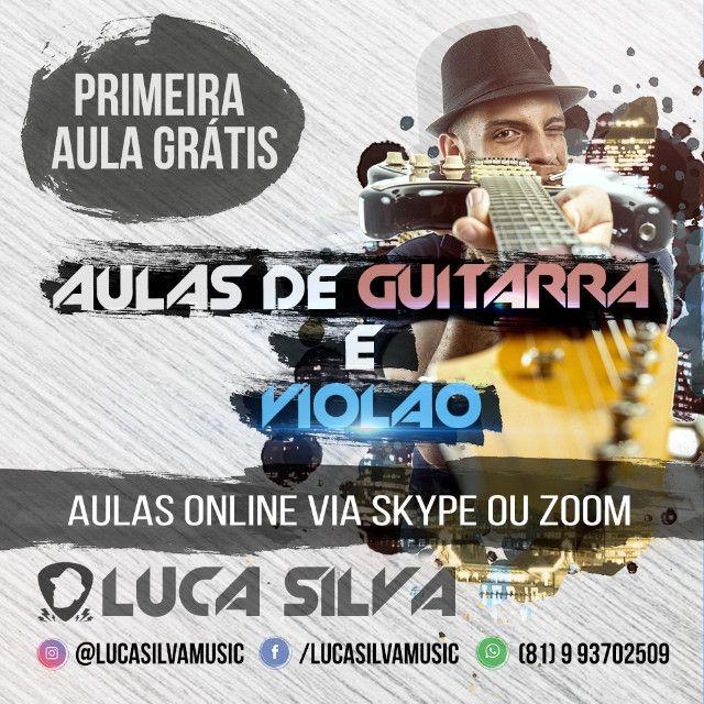 Aulas de Guitarra ou Violão Online via Skype/Zoom (Primeira aulas experimental grátis)