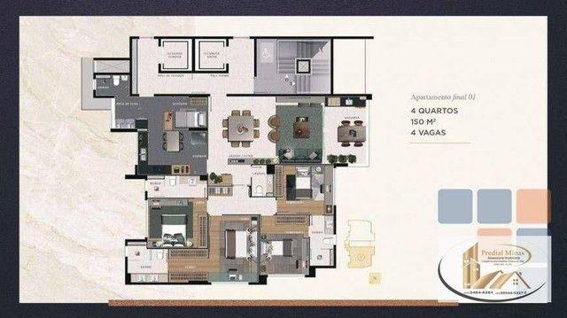 Apartamento com 4 dormitórios à venda, 150 m² por R$ 2.196.000,00 - Serra - Belo Horizonte - Foto 2