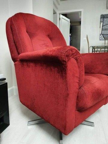 Poltrona vermelha (2 unidades por R$1.200,00) - Foto 4