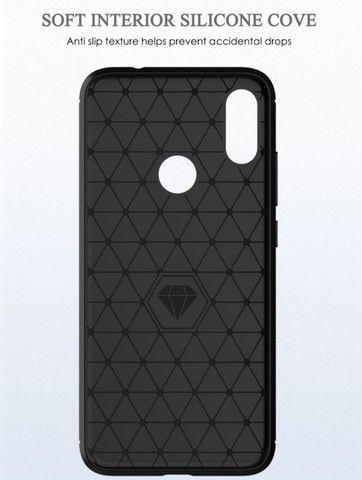 Capa em Fibra de Carbono para Xiaomi Note 8 Pro - Foto 2