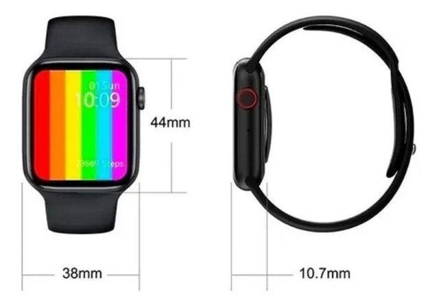 Smartwatch Iwo 12 - Faz Ligações/ Lista Contatos + Brinde Pulseira Aço - Foto 4