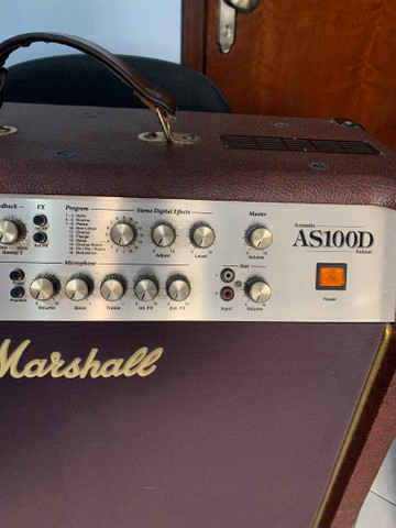 Amplificador Marshall Acoustic AS100D Combo 100W - Foto 3