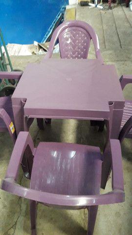 Jogos de Mesas Plásticas Extra Forte Capacidade até 120kg = chama no ZAP - Foto 3