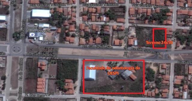 Terreno em Parnaíba-Pi na Av São Sebastião 24x50m