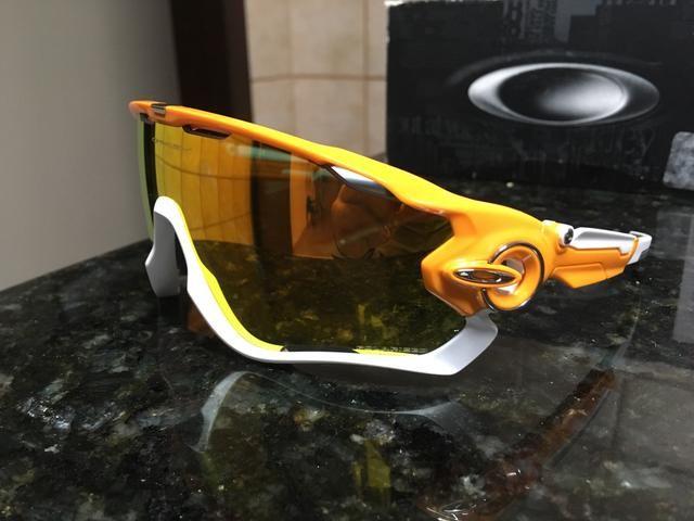 Óculos Oakley Jaw Breaker Original - Laranjada com Branco