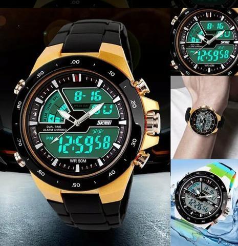 Relógio masculino digital á prova d'agua skmei 1016