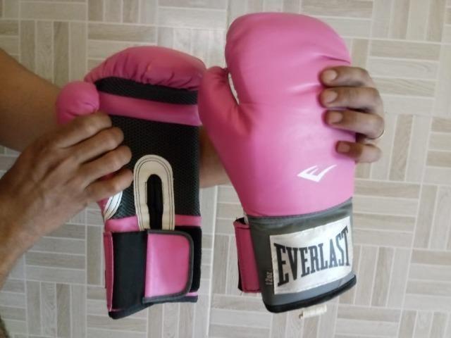 Luva de Boxe e Muay Thai Pro Style Everlast. Cor  Rosa. Tamanho ... 84c6fac2b7b18