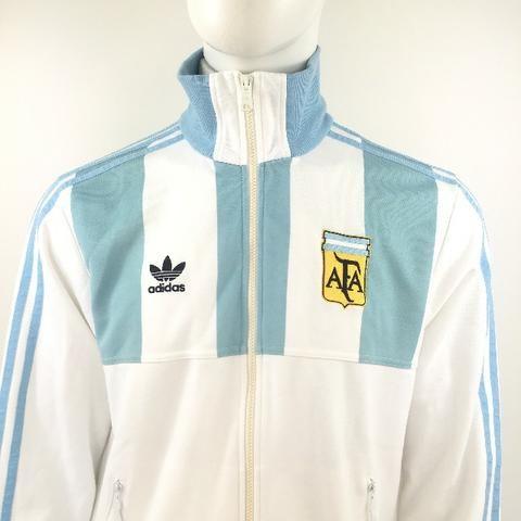 090 - Jaqueta Agasalho Retro adidas Seleção Argentina Messi Copa Futebol M 1978 Maradona