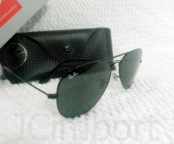 Óculos de sol Aviador Preto com lentes de fator solar UVa e UVb ... d31722c088