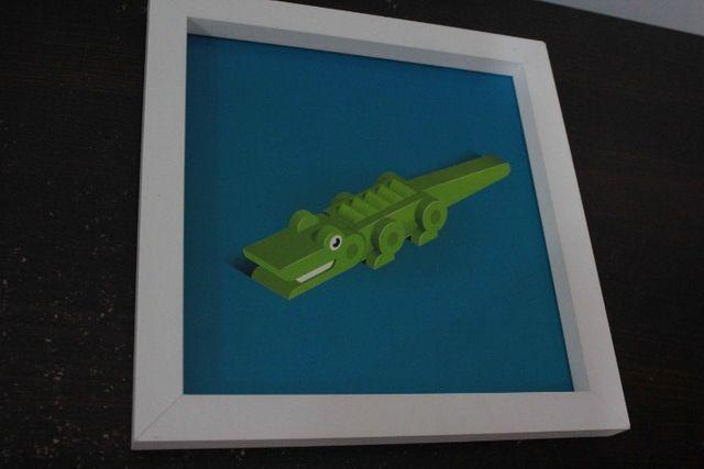 Conjunto Quadro Infantil / em MDF Branco 38 cm x 38 cm - Foto 3