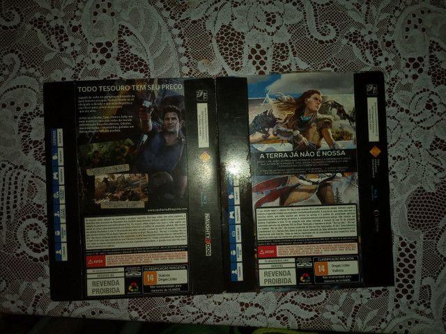 Dois jogos de ps4: horizon zero dawn, uncharted 4 - Foto 2