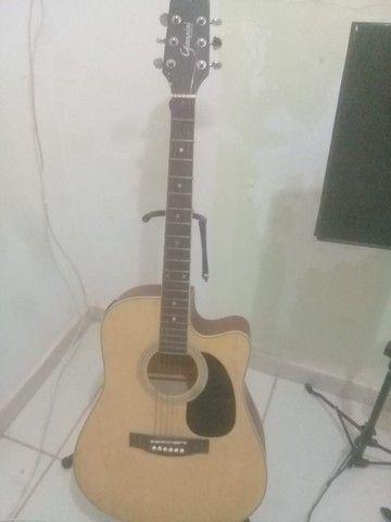 violão giannini gf1d ceq n folk natural