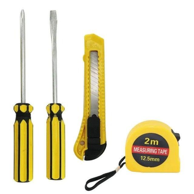 Kit de ferramentas com 7 peças indicado para uso doméstico e pequenos reparos - Foto 4