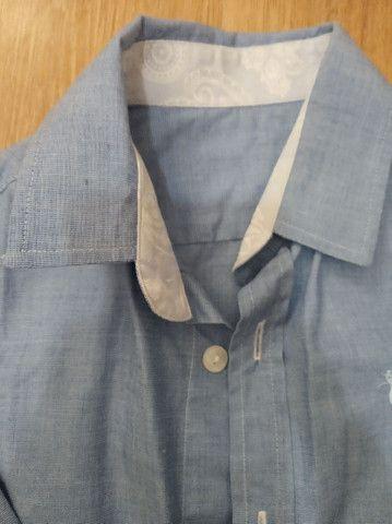 Trio de camisas manga longa infantil masculino - Foto 3
