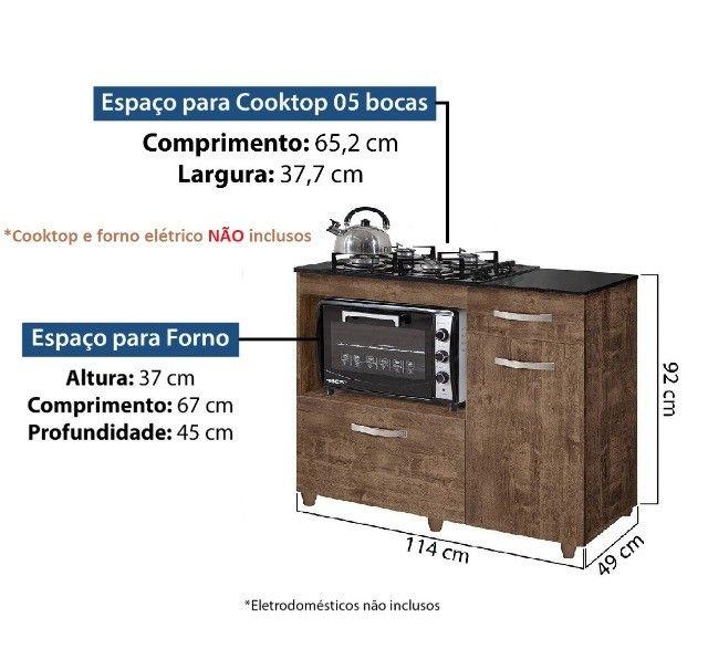 Balcão para cooktop de 5 bocas Violeta | NOVO - Foto 6